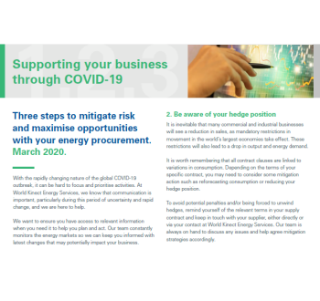 Three steps to mitigate risk and maximise opportunities with your energy procurement.